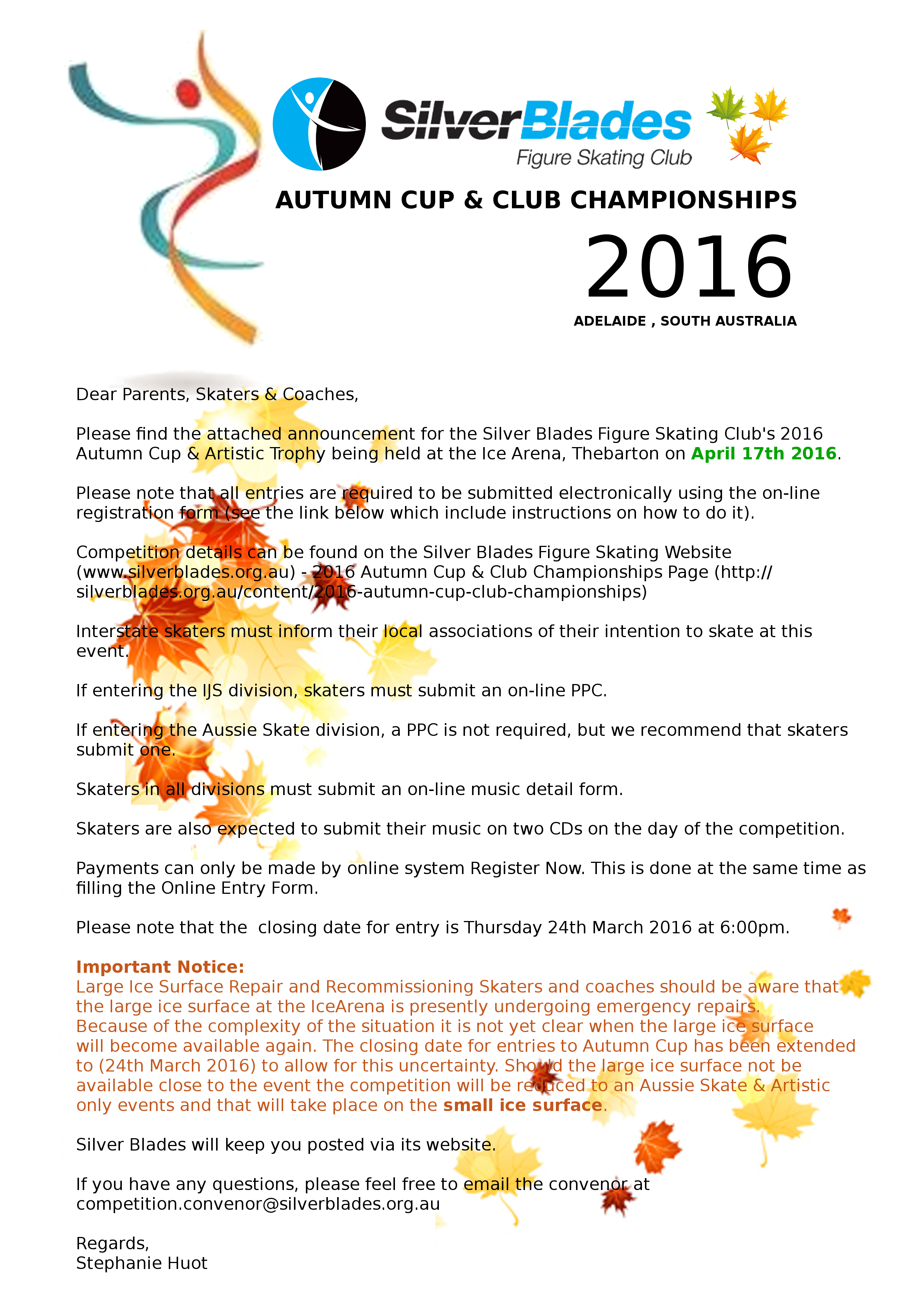2016 Autumn Cup & Club Championships   Silver Blades Figure