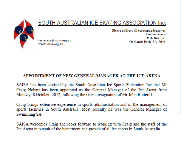 appointment letter for manager